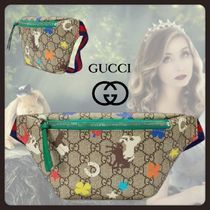 GUCCI Monogram Casual Style Canvas Street Style Hip Packs