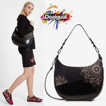 Desigual Faux Fur Shoulder Bags
