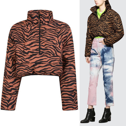 Short Casual Style Street Style Other Animal Patterns