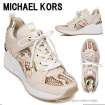 Michael Kors Georgie Platform Round Toe Rubber Sole Lace-up Casual Style