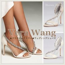 Vera Wang Flower Patterns With Jewels Shoes