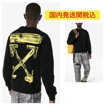 Off-White Crew Neck Pullovers Unisex Sweat Street Style Long Sleeves