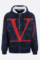 VALENTINO VLOGO Camouflage Long Sleeves Cotton Logos on the Sleeves Logo