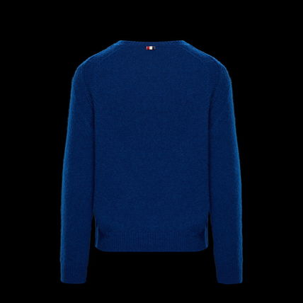 MONCLER Knits & Sweaters Crew Neck Wool Long Sleeves Plain Knits & Sweaters 3