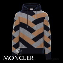 MONCLER Wool Cashmere Long Sleeves Logos on the Sleeves