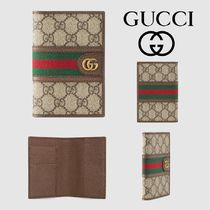 GUCCI Ophidia Stripes Canvas Leather Wallets & Small Goods