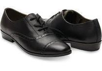 TOMS Plain Toe Round Toe Rubber Sole Casual Style Plain Leather