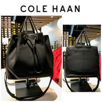 Cole Haan Casual Style 2WAY Plain Leather Office Style Totes