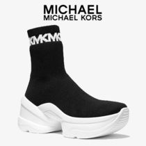 Michael Kors Rubber Sole Casual Style Street Style Plain