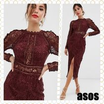 ASOS Long Sleeves Medium Lace Elegant Style Dresses