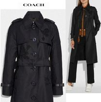 Coach Plain Trench Coats