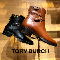Tory Burch Plain Leather High Heel Boots