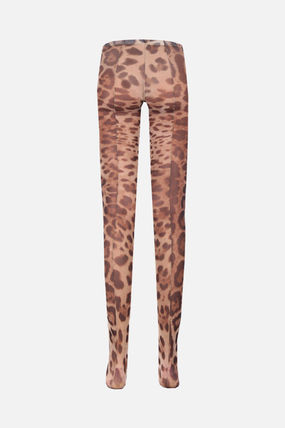 Dolce & Gabbana Leopard Patterns Nylon Socks & Tights