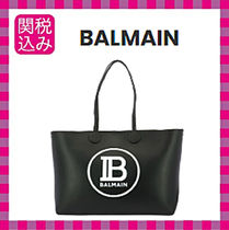 BALMAIN A4 Leather Shoulder Bags