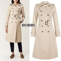 Hobbs London Plain Long Office Style Trench Coats