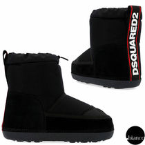 D SQUARED2 Round Toe Rubber Sole Casual Style Street Style Plain