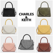 Charles&Keith Casual Style Faux Fur 2WAY Bi-color Plain