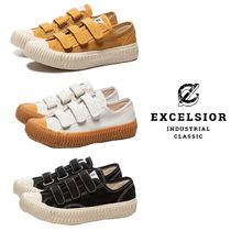 EXCELSIOR Round Toe Rubber Sole Casual Style Unisex Blended Fabrics