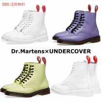 Dr Martens 1460 Round Toe Lace-up Casual Style Collaboration Plain Leather