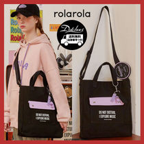 rolarola Casual Style Street Style A4 Totes