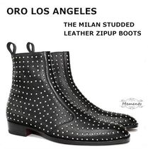 ORO LOS ANGELES Suede Studded Boots