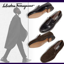 Salvatore Ferragamo Moccasin Loafers Suede Plain Leather Loafers & Slip-ons