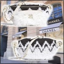 CHANEL 2019-20AW WAIST BAG white black more bags