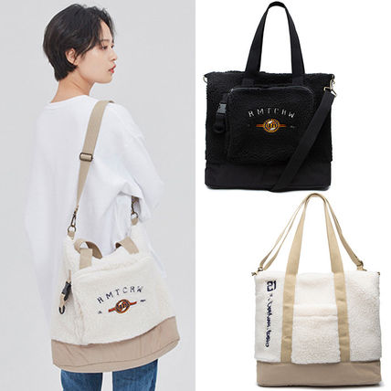 Casual Style Unisex Street Style 2WAY Plain Totes