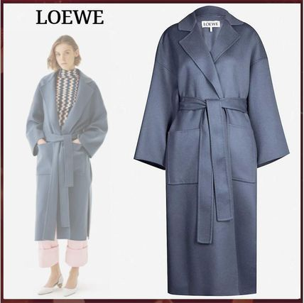 Wool Cashmere Long Office Style Oversized Elegant Style