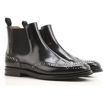 Church's Plain Toe Studded Leather Chelsea Boots