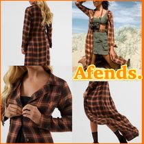 AFENDS Other Check Patterns Casual Style Street Style Long Jackets