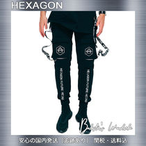 HEXAGON Casual Style Unisex Street Style Plain Long Oversized