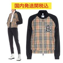 Burberry Other Check Patterns Street Style Medium MA-1 Bomber Jackets