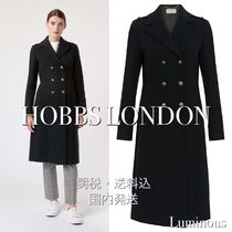 Hobbs London Wool Plain Medium Office Style Elegant Style Peacoats
