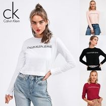 Calvin Klein Crew Neck Long Sleeves Cotton T-Shirts