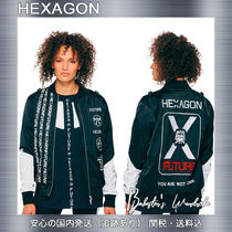 HEXAGON Casual Style Unisex Street Style Medium MA-1 Oversized