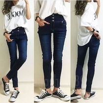 Denim Plain Skinny Jeans
