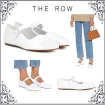 The Row Round Toe Casual Style Plain Leather Flats