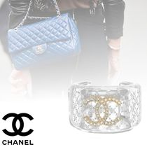 CHANEL Bangles Costume Jewelry Blended Fabrics Party Style