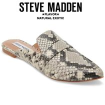 Steve Madden Platform Casual Style Leather Python Slippers Lace-Up Shoes