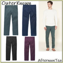 Outer known Stripes Linen Blended Fabrics Handmade Pants