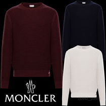 MONCLER Crew Neck Wool Long Sleeves Plain Knits & Sweaters