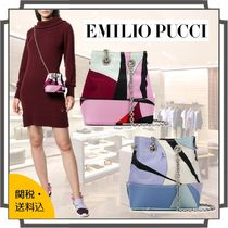 Emilio Pucci Casual Style Blended Fabrics Bi-color Chain Party Style