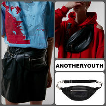 ANOTHERYOUTH Casual Style Unisex Plain Hip Packs