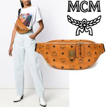 MCM Casual Style Street Style PVC Clothing Shoulder Bags