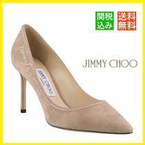 Jimmy Choo Casual Style Suede Blended Fabrics Plain Leather Party Style