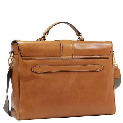 A4 2WAY Plain Leather Handmade Business & Briefcases