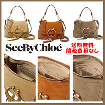 See by Chloe Suede 2WAY Plain Leather Elegant Style Shoulder Bags
