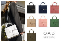 OAD NEW YORK Casual Style 2WAY Bi-color Plain Leather Party Style