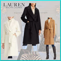 Ralph Lauren Wool Plain Long Office Style Coats